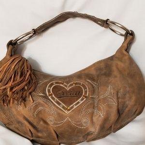 Like New ARIAT small handbag w/heart detail